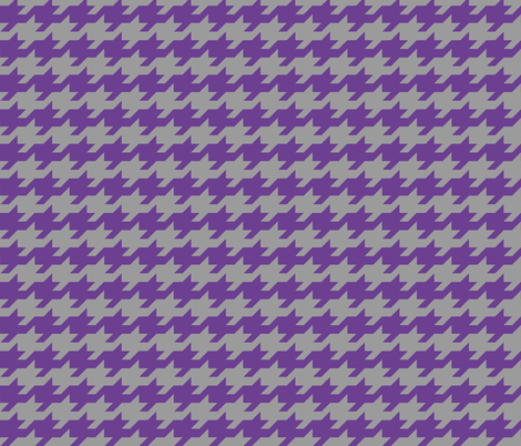 Houndstooth - purple and grey fabric by little_fish on Spoonflower - custom fabric