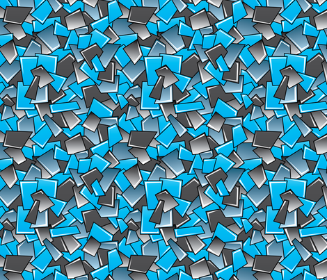 Street Squares (Charcoal & Blue) fabric by robyriker on Spoonflower - custom fabric