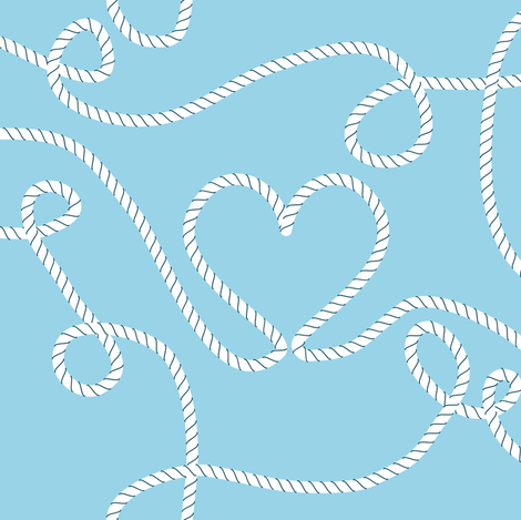 Knot Love fabric by candyjoyce on Spoonflower - custom fabric