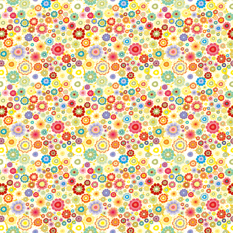 flower field fabric by dariara on Spoonflower - custom fabric