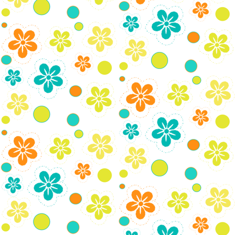 Baby Butterfly Floral Garden! - Baby Butterfly Spring Garden - © PinkSodaPop 4ComputerHeaven.com fabric by pinksodapop on Spoonflower - custom fabric