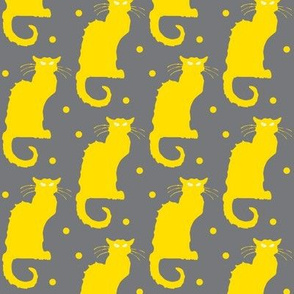 Le Chat Noir Yellow Dotted Gray