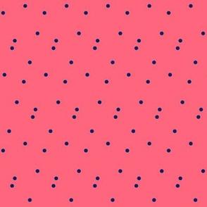 Blue Dots on Peach