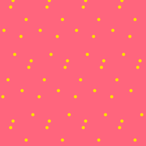 Yellow Dots on Peach fabric by bohobear on Spoonflower - custom fabric