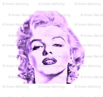 marilyn monroe in purple