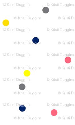 Boho Dots | Colorful Spots on White | Small Version