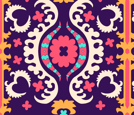 purplesuzani fabric by femmenouveau on Spoonflower - custom fabric