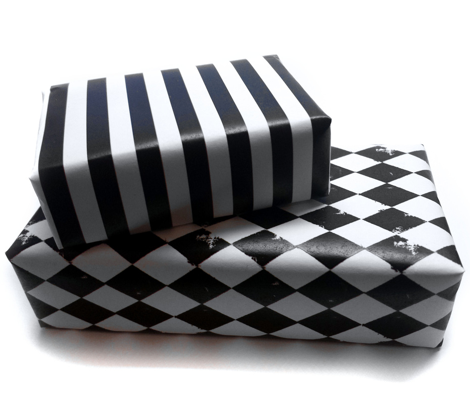 Black and White Harlequin Diamonds