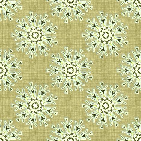 Flowers on linen fabric by joanmclemore on Spoonflower - custom fabric