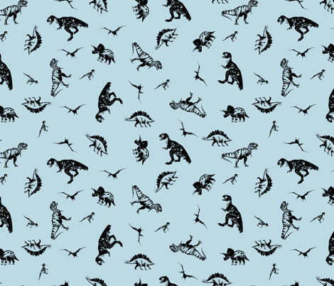 Dinosaurs BCDAE4 fabric by candyjoyce on Spoonflower - custom fabric