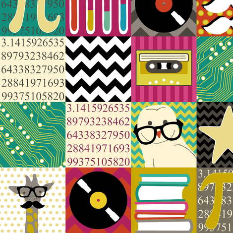 hip hip geek fabric by scrummy on Spoonflower - custom fabric