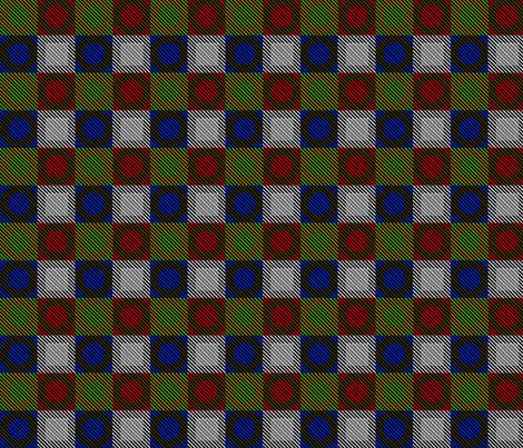 Twill Plaid Circles fabric by glimmericks on Spoonflower - custom fabric