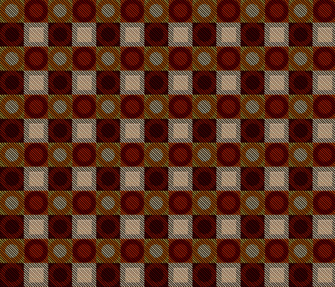 Twill Plaid Circles Hot Stuff fabric by glimmericks on Spoonflower - custom fabric