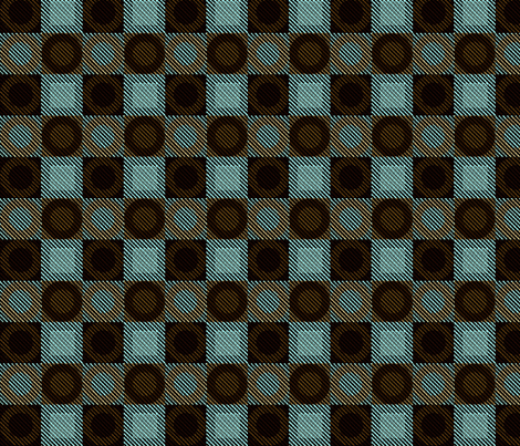 Twill Plaid Circles Mint Chocolate fabric by glimmericks on Spoonflower - custom fabric