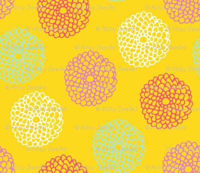 HummingBirdFlowers-yellow