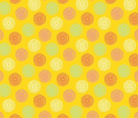 HummingBirdFlowers-yellow fabric by abby_zweifel on Spoonflower - custom fabric