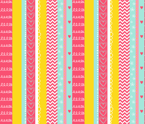 HummingBirdsStripe fabric by abby_zweifel on Spoonflower - custom fabric