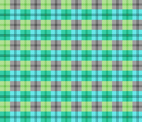 gingham plaid lakefront fabric by glimmericks on Spoonflower - custom fabric