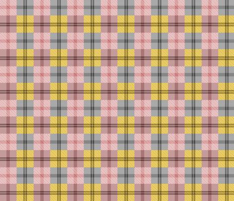 gingham plaid ginger peach fabric by glimmericks on Spoonflower - custom fabric
