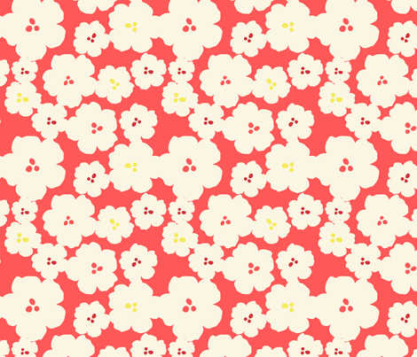 QuinceMiniFlowers-Pink fabric by abby_zweifel on Spoonflower - custom fabric