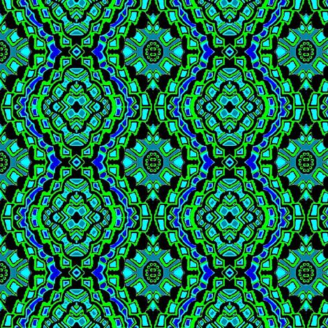 green and blue flower bandana  fabric by dk_designs on Spoonflower - custom fabric