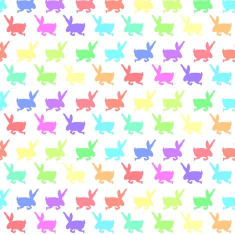 Rainbow Bunny Frolic fabric by pond_ripple on Spoonflower - custom fabric