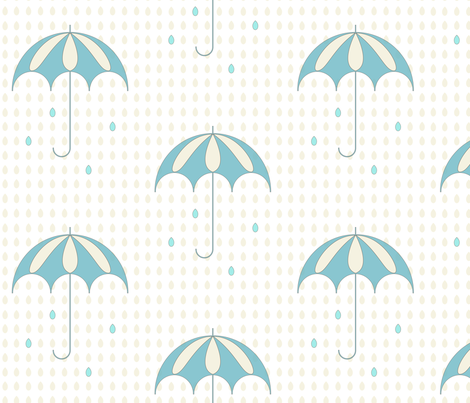 Rainy day fabric by szilvia on Spoonflower - custom fabric