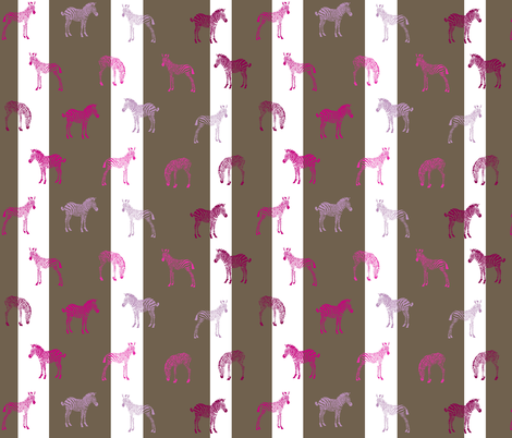 Baby Zebra at Twilight in Wonderland fabric by smuk on Spoonflower - custom fabric