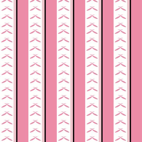 MOD Florals stripe fabric by karenharveycox on Spoonflower - custom fabric
