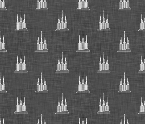 Washington DC Temple Print fabric by bjornonsaturday on Spoonflower - custom fabric