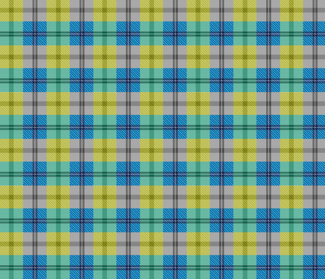 gingham plaid kelp beds fabric by glimmericks on Spoonflower - custom fabric