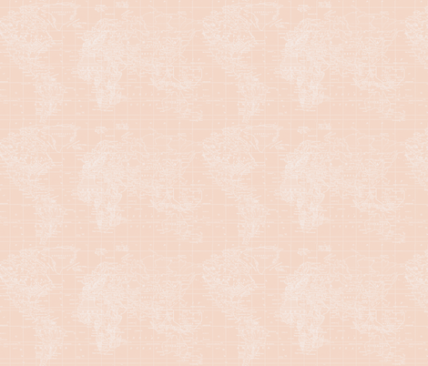 Light Pink Map fabric by aftermyart on Spoonflower - custom fabric