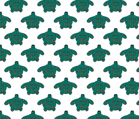 Baby Sea Turtles on White fabric by egprestonhouse on Spoonflower - custom fabric