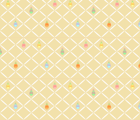 Pineapple Diamonds fabric by marina_hina on Spoonflower - custom fabric
