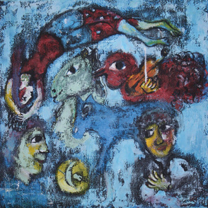Marc Chagall Inspired Fabric 022