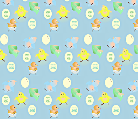 Baby Birds Jump fabric by marina_hina on Spoonflower - custom fabric