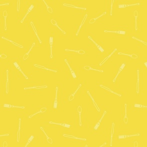 Utensils Pattern Yellow