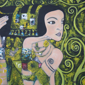 Gustav Klimt Inspired Fabric 011