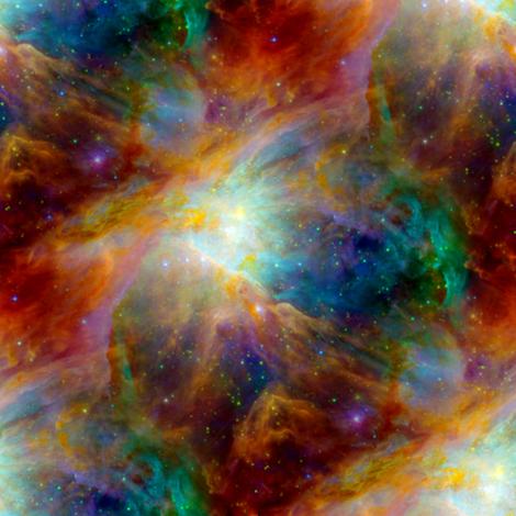 Rainbow Galaxy Seamless fabric by emma_joy_joy on Spoonflower - custom fabric