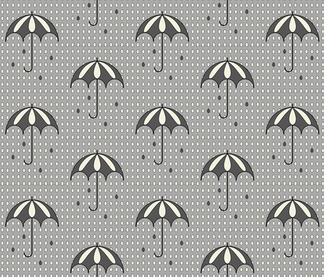 Rainy day B&W fabric by szilvia on Spoonflower - custom fabric