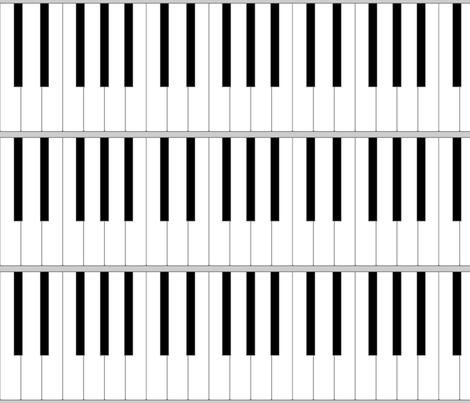 01920731 : pianoforte keyboard - life-sized fabric by sef on Spoonflower - custom fabric