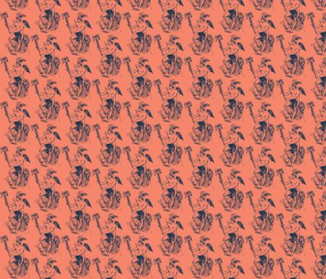 Hermes Scarf Indigo fabric by amyvail on Spoonflower - custom fabric