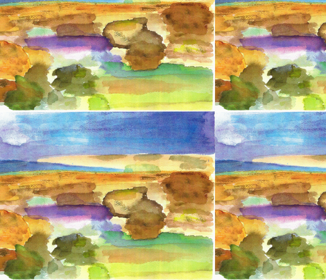 Watercolor of Rocks fabric by artist55 on Spoonflower - custom fabric