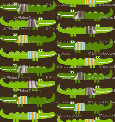 Dressed Alligators in Brown
