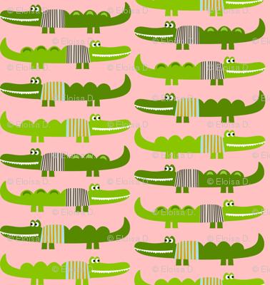 Sweater Alligators in Pink