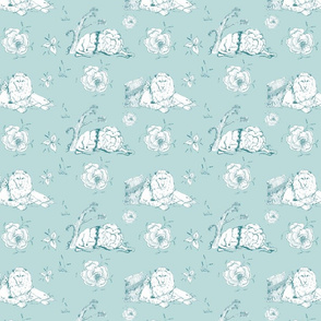 Lion_Mouse_toile_green2