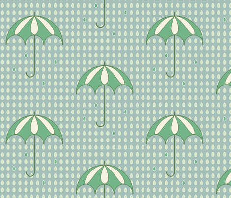 Rainy day green fabric by szilvia on Spoonflower - custom fabric