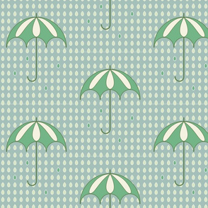 Rainy day green