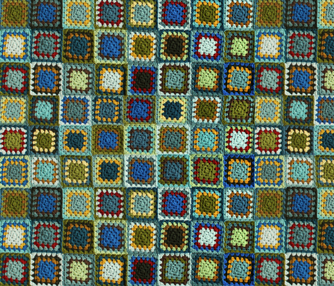Flufy's Granny Square Blanket fabric by lclarke522 on Spoonflower - custom fabric