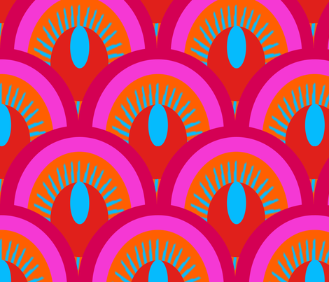 ecailles_fond_bleu_L fabric by nadja_petremand on Spoonflower - custom fabric